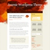 Journic Orange Color Free Wordpress Theme