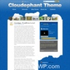 Cloudephant Blue Color Personal Blog Style WordPress Theme