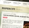 Papercut Wordpress Theme