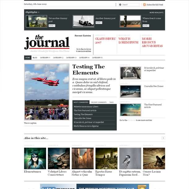 Woo The Journal News Premium Wordpress Theme