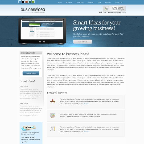 BusinessIdea 5in1 Online Portfolio Premium Wordpress Theme