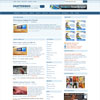ChatterBox Blue Portal & News Free Wordpress Theme