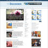 Discoverer Blue Free Portfolio Blog Premium Wordpress Theme