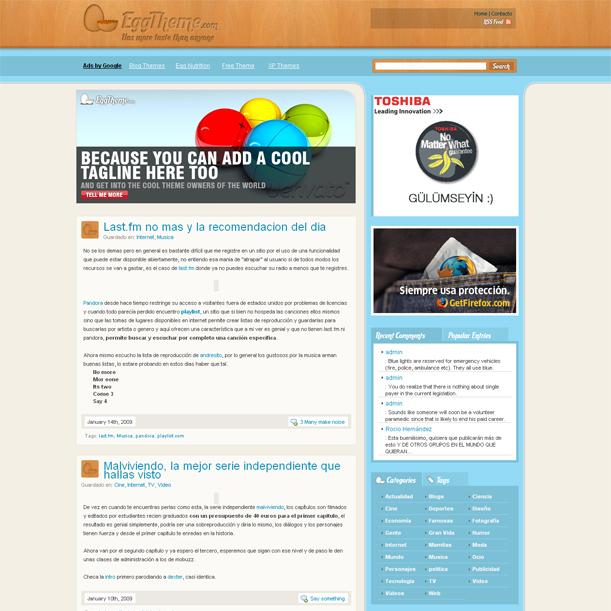 Egg Theme Personal Corporate Blog Premium Wordpress Theme