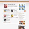 Emperors Orange Showcase Blog Free Wordpress Theme