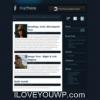 First Blue Online Portfolio Free Wordpress Theme