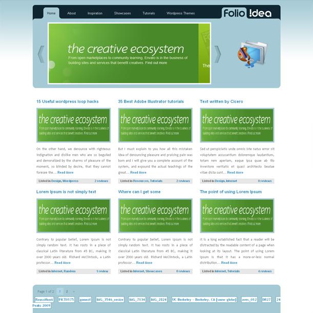 Folio Idea Online Portfolio Premium Wordpress Theme