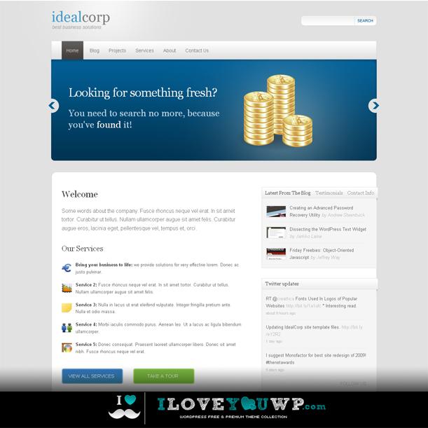 IdealCorp Online Portfolio Premium Wordpress Theme