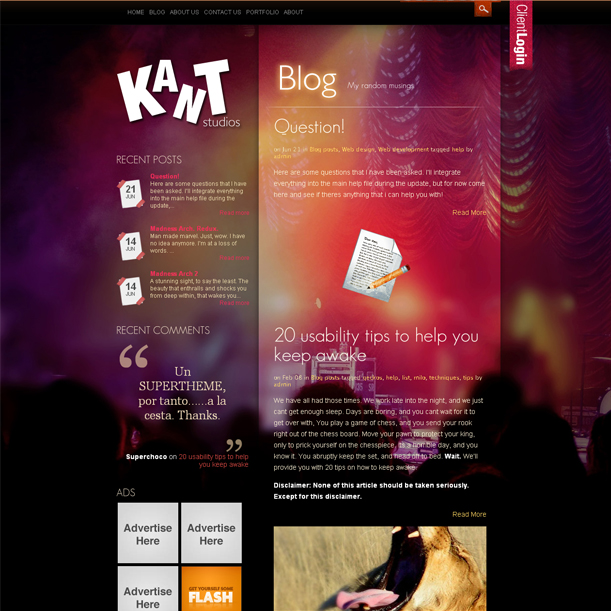 Impact Simple Portfolio Wordpress Theme