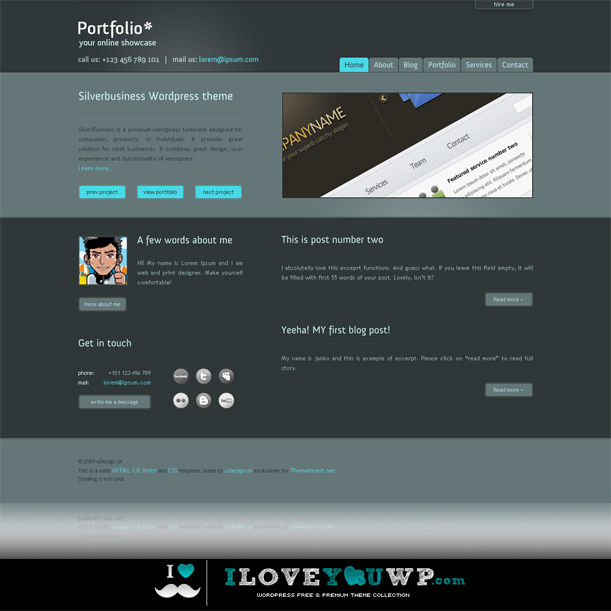 Portfolio Your Online Showcase Premium Wordpress Theme