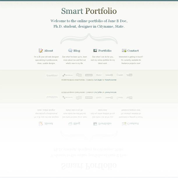 Smart Portfolio Simple Premium Wordpress Theme