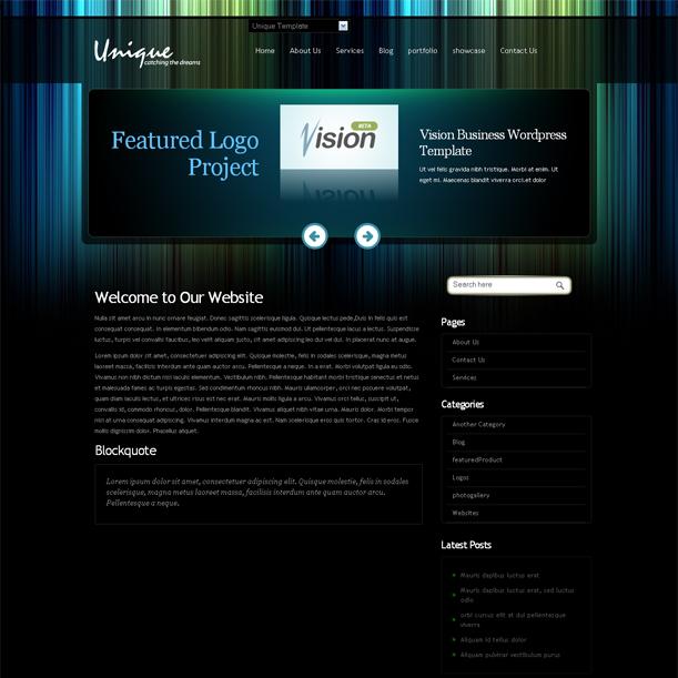 Unique Business Online Portfolio Premium Wordpress Theme
