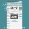 Flowered Turquoise Blog Wordpress Theme